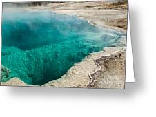 Black Pool In West Thumb Geyser Basin Greeting Card