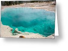 Black Pool In West Thumb Geyser Basin In Yellowstone National Park Greeting Card