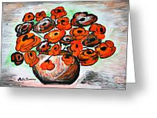 Black Poppies Greeting Card by Ramona Matei