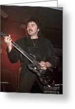 Black Sabbath - Tony Iommi Greeting Card