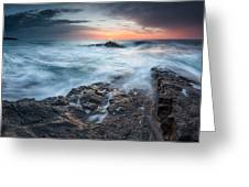 Black Sea Rocks Greeting Card