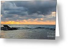 Black Sea Sunrise Before Storm Greeting Card