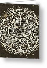 Black Sepia Oreo Greeting Card