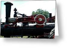 Black Steam Engine Greeting Card