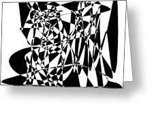 Black Stroke Greeting Card
