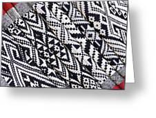 Black Thai Fabric 03 Greeting Card