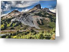 Black Tusk Over Alpine Meadows Greeting Card