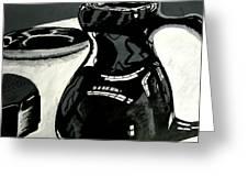 Black Vase Greeting Card
