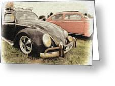 Black Vw Greeting Card