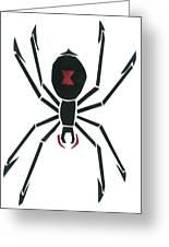 Black Widow Greeting Card by Earl ContehMorgan