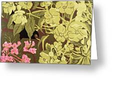 Blackbird In The Hellebores Greeting Card