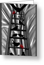 Blackbird Ladder Greeting Card