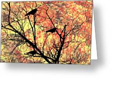Blackbirds In A Tree Greeting Card