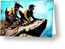 Blackfeet Scouts Greeting Card