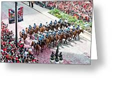 Blackhawks Parade Mtd Police Greeting Card