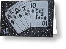 Blackjack Hand Greeting Card
