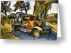 Blackjack Winery Truck Santa Ynez California Greeting Card