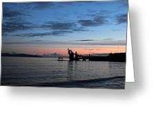 Blackrock After Sunset Greeting Card by Peter Skelton