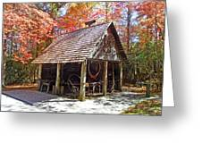 Blacksmith Shop In The Fall Greeting Card