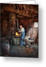Blacksmith - The Importance Of The Blacksmith Greeting Card by Mike Savad