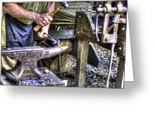 Blacksmith Working Iron V1 Greeting Card