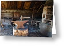 Blacksmiths Tools Greeting Card