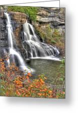 Blackwater Falls-2a Blackwater Falls State Park Wv Autumn Mid-morning Greeting Card