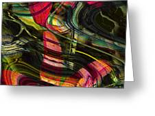 Blades In The Layered Worlds Greeting Card