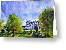 Blair Castle Bridge Scotland Greeting Card