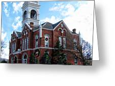 Blairsville Courthouse At Christmas Greeting Card