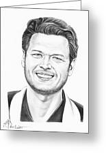 Blake Shelton Greeting Card by Murphy Elliott