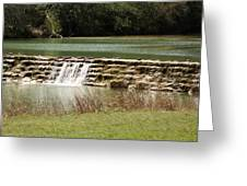 Blanco River Weir Greeting Card