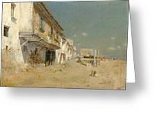 Blanes Beach Greeting Card