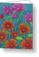 Blanket Flowers And Cosmos Greeting Card