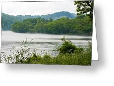Blanket Of Fog On Clinch River  Greeting Card