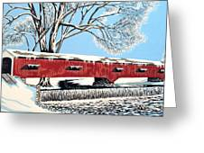 Blankets Of Winter Greeting Card by David Linton