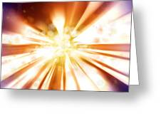 Blast Background  Greeting Card