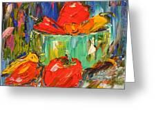 Blast Of Color Greeting Card by Barbara Pirkle