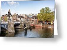 Blauwbrug In Amsterdam Greeting Card