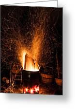 Blazing Bonfire Greeting Card