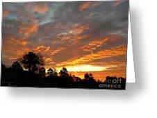 Blazing Christmas Sunset Greeting Card