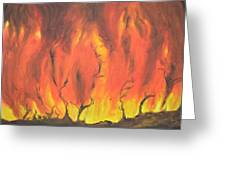Blazing Fire Greeting Card