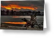 Blazing Sunset II Greeting Card