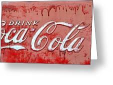 Bleeding Coke Red Greeting Card
