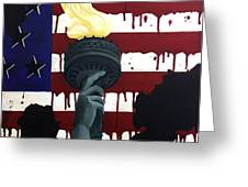 Bleeding For Freedom Greeting Card