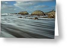 Blegberry Beach Devon Greeting Card