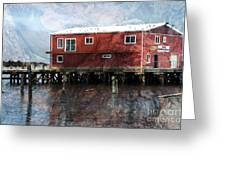 Blended Oregon Dock And Structure Greeting Card by Ron Hoggard
