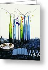 Blenko Glass Bottles Greeting Card