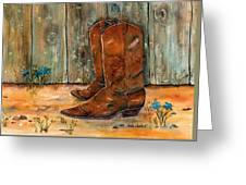 Bless My Boots Greeting Card