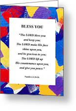 Bless You Poster Greeting Card